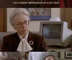 funny, hot dog, and movie image