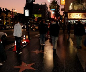 california, hollywood, and night image