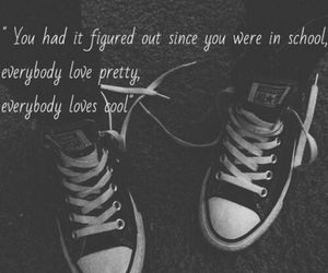 black and white, converse, and cool image