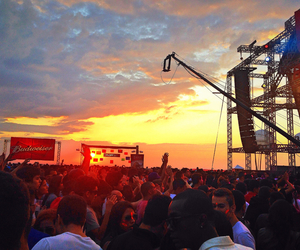 festival, house, and sunset image
