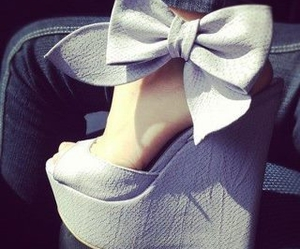 shoes, bow, and heels image