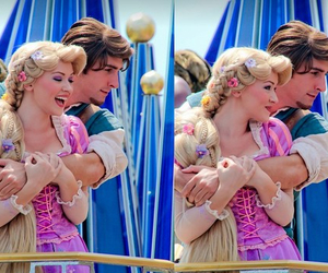 couple, disney, and flynn rider image