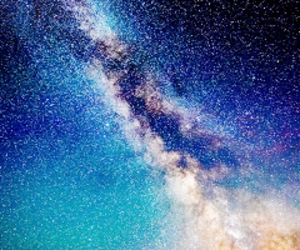 galaxy, sky, and blue image