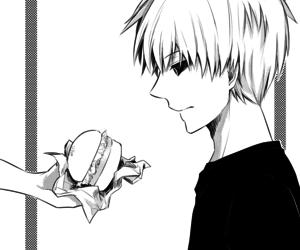anime, boy, and food image