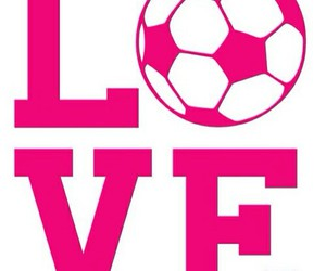 love, soccer, and pink image