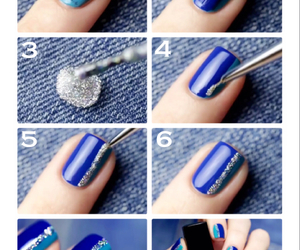 blue, nails, and art image