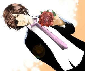 rose, anime, and anime boy image