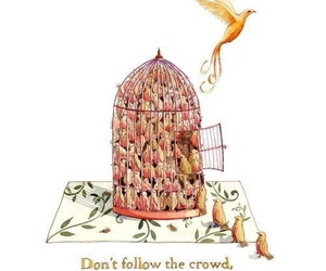 bird, cage, and crowd image