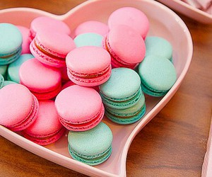 beautiful, blue and pink, and food image