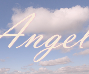 angel, sky, and clouds image