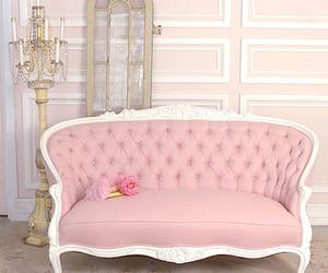 pink and sofa image