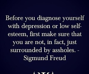 quote, asshole, and depression image