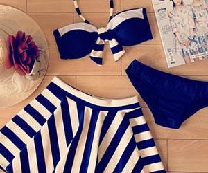 bikini, outfit, and skirt image