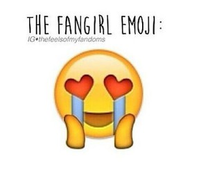 emoji and fangirl image