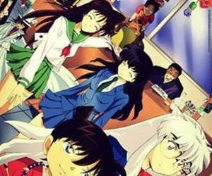 anime, inuyasha, and detective conan image