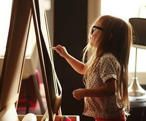 art, kids, and baby image