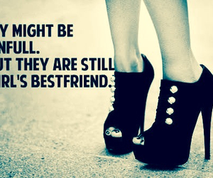 high heels, quote, and shoes image