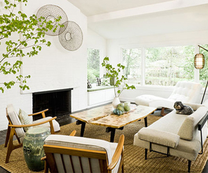 living room, interior, and white image