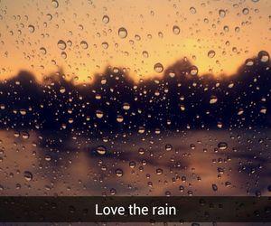 rain, love, and sunset image