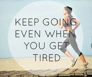 run, tired, and keep going image