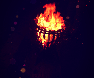 fire, marshmellows, and bon fire image