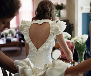heart, dress, and white image