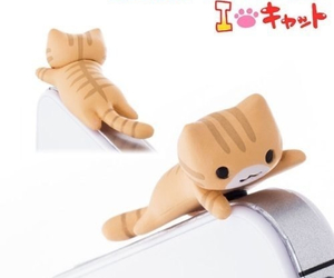 accessory, cat, and earphone image