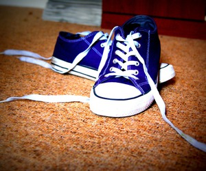 converse, purple, and summer image