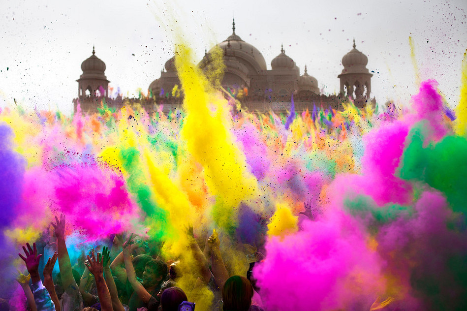 color festival shared by sara bahrami on we heart it