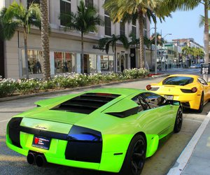 Beverly Hills, california, and cars image