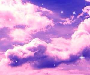beautiful, clouds, and purple image