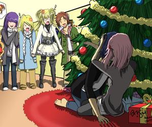 anime, christmas, and kiss image