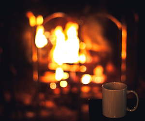cozy, fire, and fireplace image