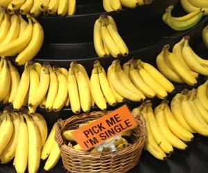 banana, single, and yellow image