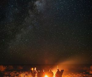 stars, night, and fire image