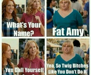 fat amy, pitch perfect, and funny image