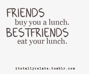 friends, best friends, and lunch image