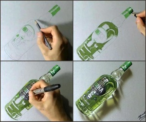 drawing, vodka, and amazing image