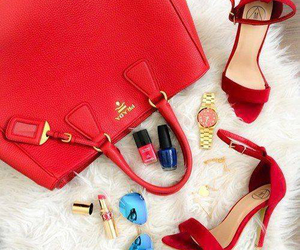 bag, heels, and outfit image