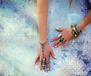 creative, rings, and hands image