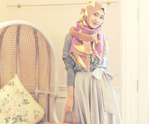 fashion, hijab, and indonesia image