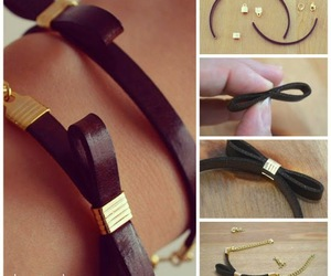 bracelets, diy, and leather image