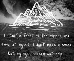 Lyrics, front porch step, and island of the misfit boy image