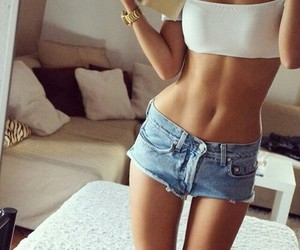 belly, fit, and girl image