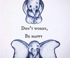 happy, dumbo, and disney image