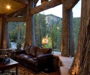 rustic cabin, rustic cottage, and cottage interior image