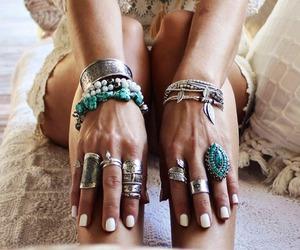 rings, fashion, and boho image
