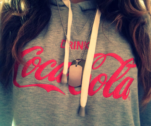 coca cola, girl, and sweater image