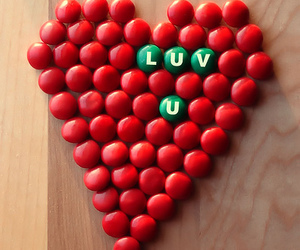 candy, heart, and m&ms image