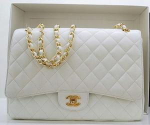 chanel, white, and bag image